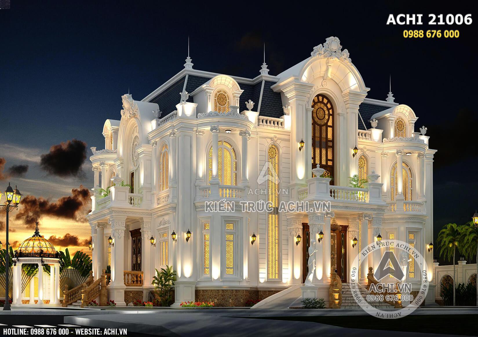 Kiến trúc Pháp đặc trưng làm nổi bật mẫu biệt thự tân cổ điển 3 tầng