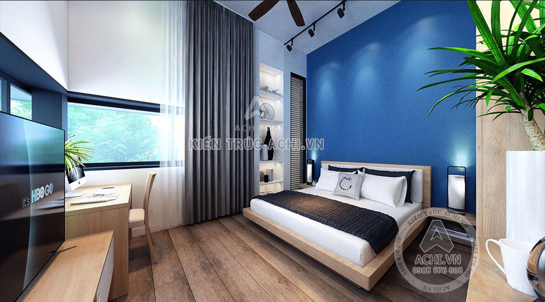 Phòng ngủ sang trọng hiện đại với đồ nội thất đơn giản