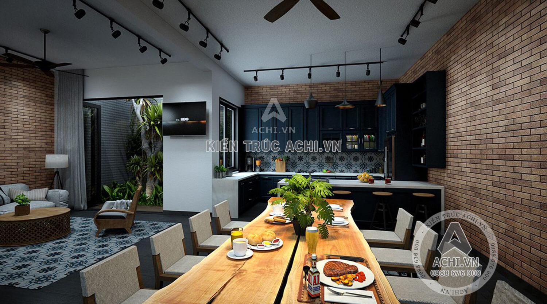 Nội thất phòng bếp mẫu nhà hiện đại 3 tầng