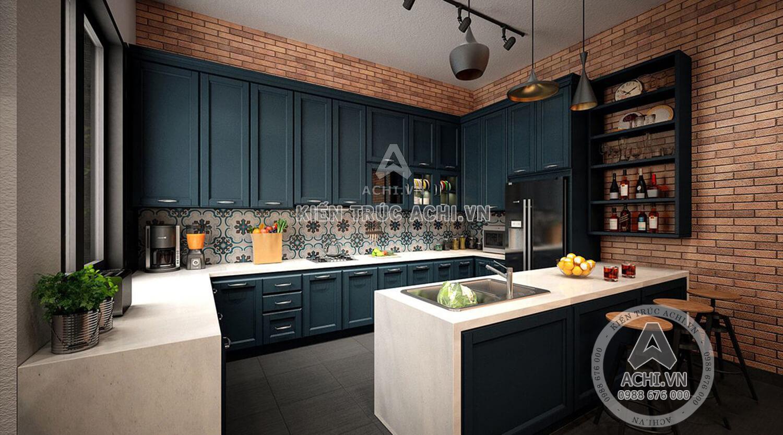 Chi tiết không gian nấu ăn mẫu nhà 3 tầng hiện đại
