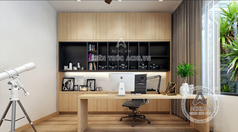 Phòng làm việc mẫu nhà 3 tầng hiện đại