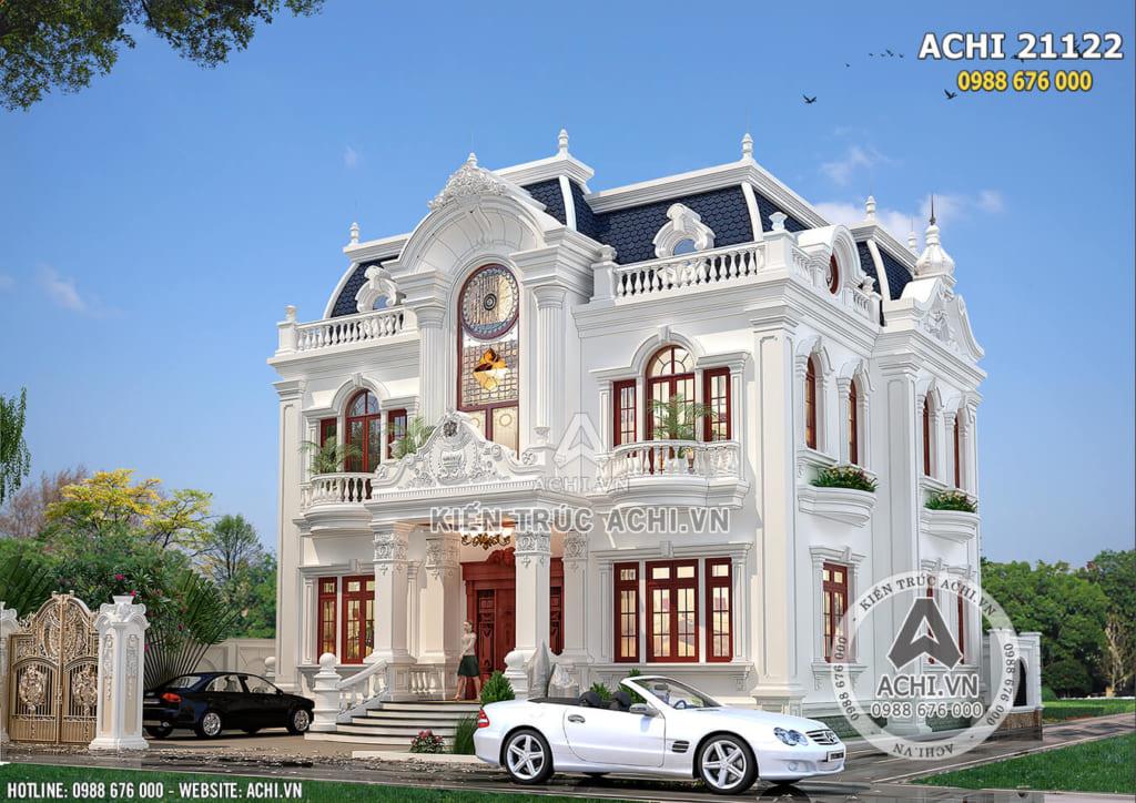 Mẫu biệt thự tân cổ điển 2 tầng đẹp tại Bắc Ninh - ACHI 21122