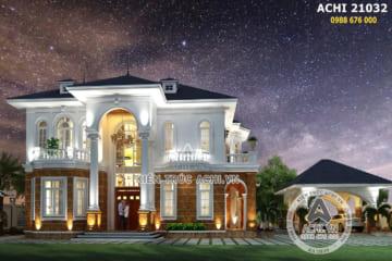 Biệt thự 2 tầng tân cổ điển đẹp tan chảy tại Quảng Bình – Mã số: 21032