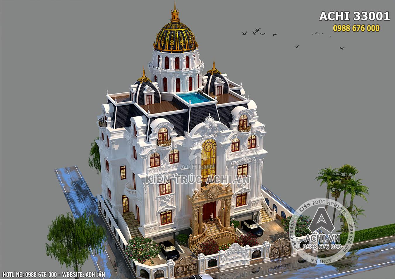 Vẻ đẹp hoàn mỹ của lối kiến trúc tân cổ điển dành cho mẫu nhà 3 tầng