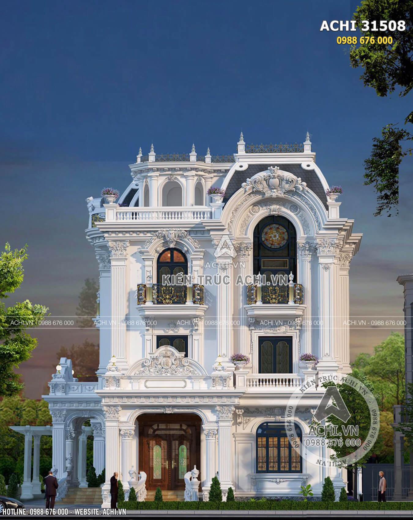 Biệt thự Pháp 3 tầng kiến trúc tân cổ điển sang trọng