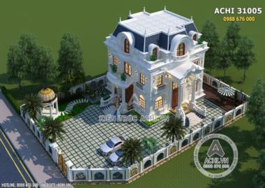 Mẫu biệt thự tân cổ điển 3 tầng đẹp tại Sài Gòn – ACHI 31005