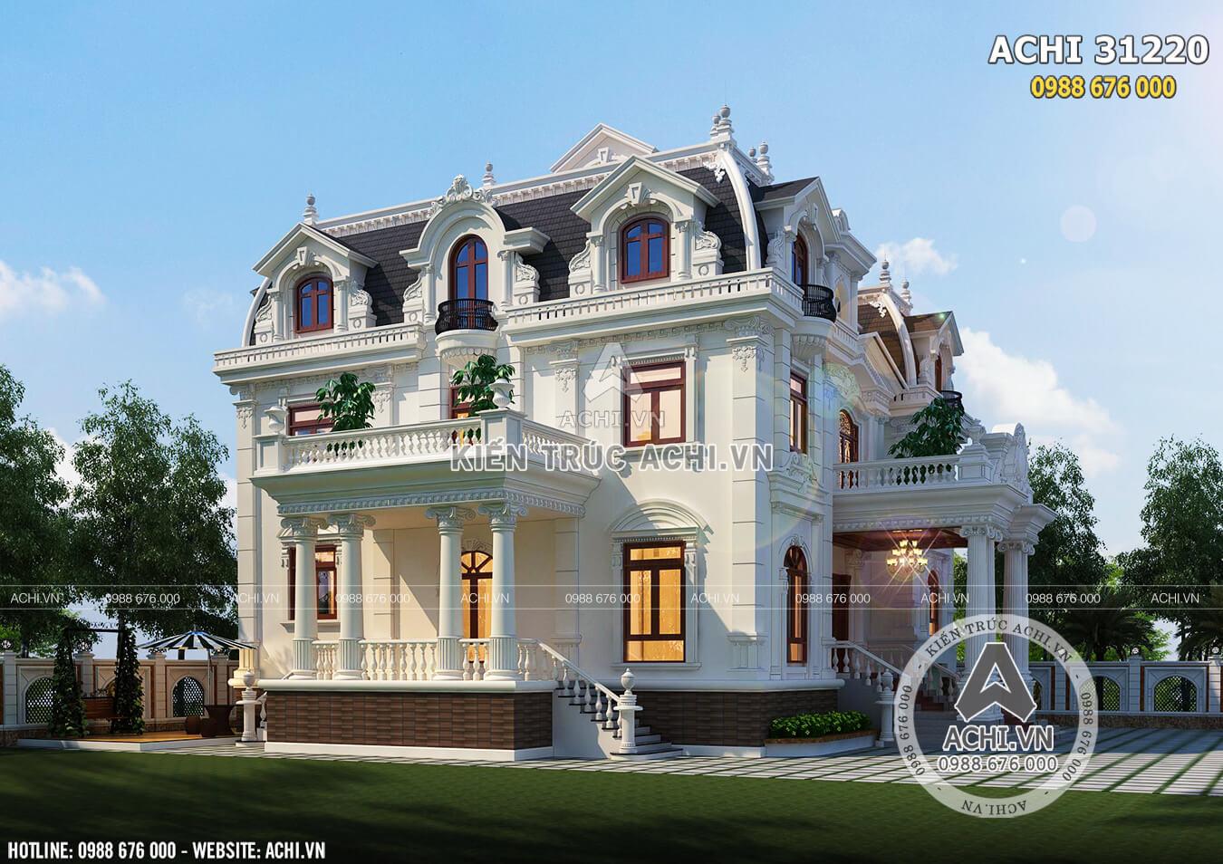Vẻ đẹp thu hút mọi ánh nhìn của mẫu biệt thự Pháp