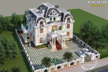Thiết kế biệt thự tân cổ điển 3 tầng đẹp tại Lạng Sơn – Mã số: ACHI 31220