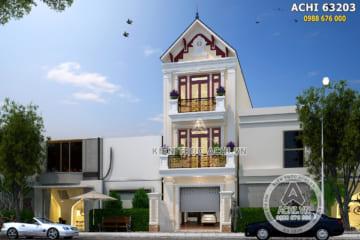 Thiết kế nhà phố 3 tầng tân cổ điển tại Quảng Ninh – Mã số: ACHI 63023