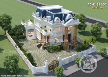 Mẫu biệt thự tân cổ điển đẹp 3 tầng tại Bình Định – ACHI 31002