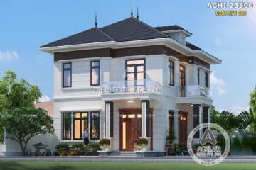 Mẫu nhà vuông 2 tầng đẹp đơn giản 800 triệu – ACHI 23500