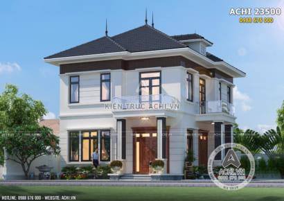 Mẫu nhà vuông 2 tầng đẹp đơn giản 800 triệu - ACHI 23500