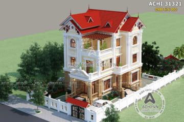 Thiết kế nhà mái thái 3 tầng tân cổ điển tại Hà Nam – ACHI 31321
