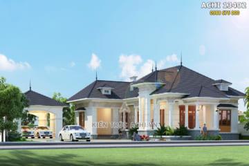 Thiết kế biệt thự vườn 1 tầng 4 phòng ngủ – Mã số: ACHI 13402