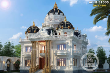 Biệt thự tân cổ điển 3 tầng 1 tum sang trọng đẳng cấp – ACHI 31005