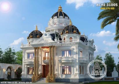 Thiết kế lâu đài dinh thự đẹp 2 tầng 1 tum