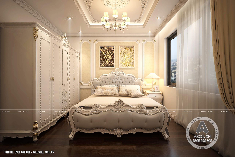 Nội thất phòng ngủ lớn sang trọng và ấm áp