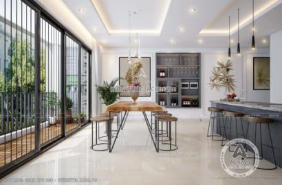 Không gian phòng ăn sang trọng và ấm cúng