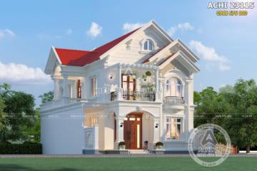 Biệt thự mái thái 2 tầng đẹp tại Hưng Yên – ACHI 23115