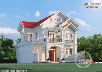 Biệt thự mái thái 2 tầng đẹp tại Hưng Yên - ACHI 23115