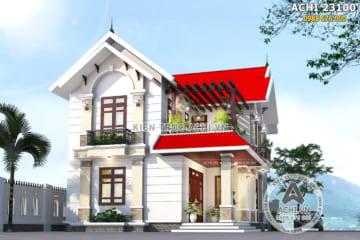 Mẫu biệt thự nhà vườn mái Thái 2 tầng đẹp – Mã số: ACHI 23100