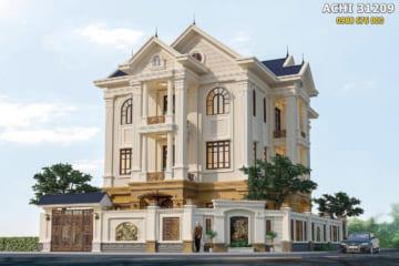Mẫu nhà 3 tầng tân cổ điển đẹp sang trọng – ACHI 31209