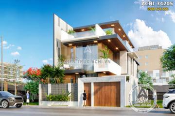Mẫu thiết kế nhà 3 tầng hiện đại đẹp tại Ninh Thuận – ACHI 34205