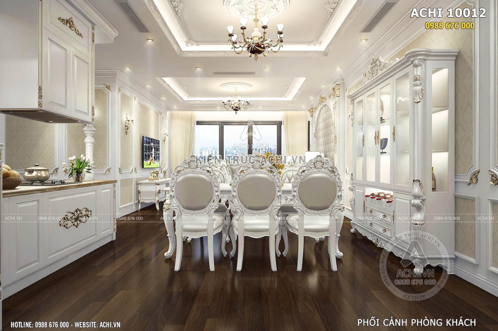 Phòng bếp ăn sang trọng và tiện nghi với nội thất đắt tiền