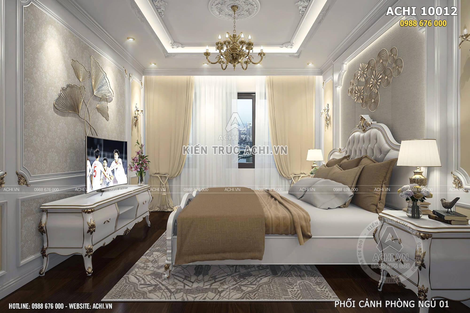Phòng ngủ được thiết kế lịch lãm, tiện nghi