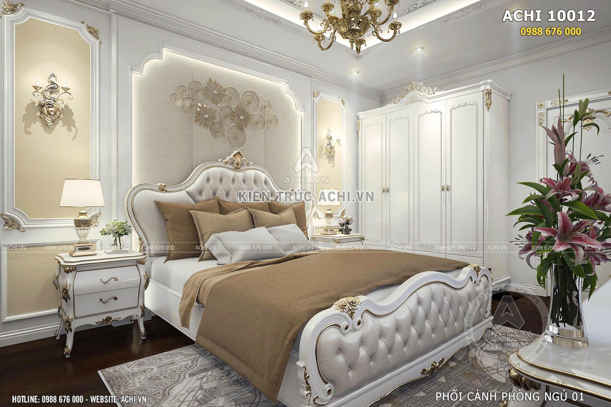 Không gian phòng ngủ không những sang trọng tiện nghi mà còn gọn gàng ngăn nắp