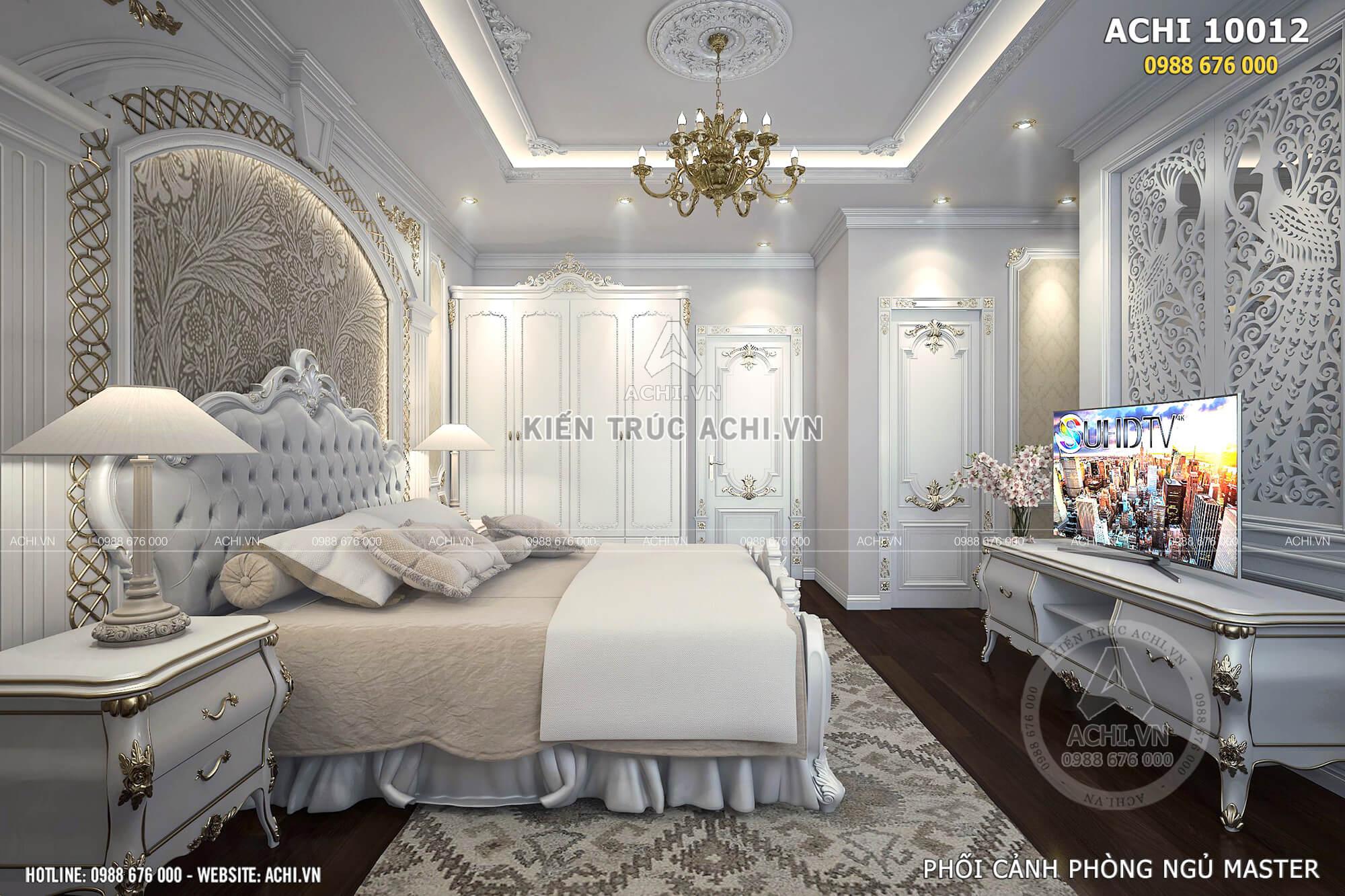 Phòng ngủ Master được bố trí hợp lý và cuốn hút