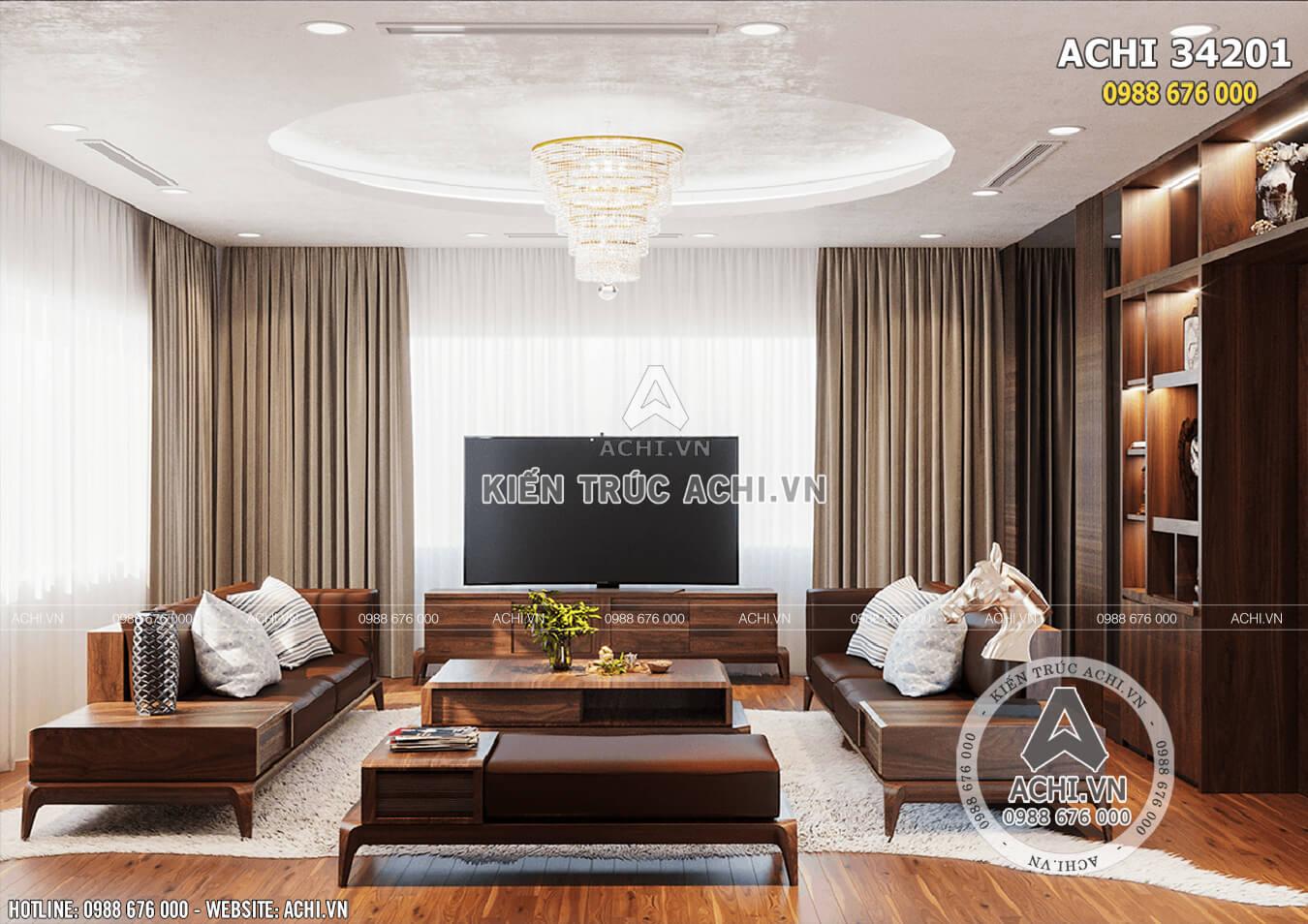 Nội thất phòng khách với phong cách hiện đại