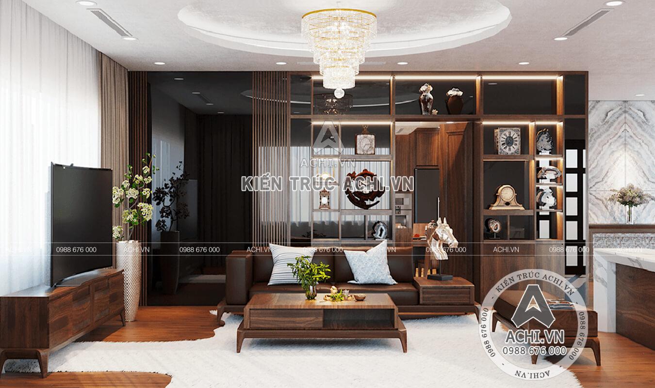 Không gian nội thất phòng khách của mẫu biệt thự