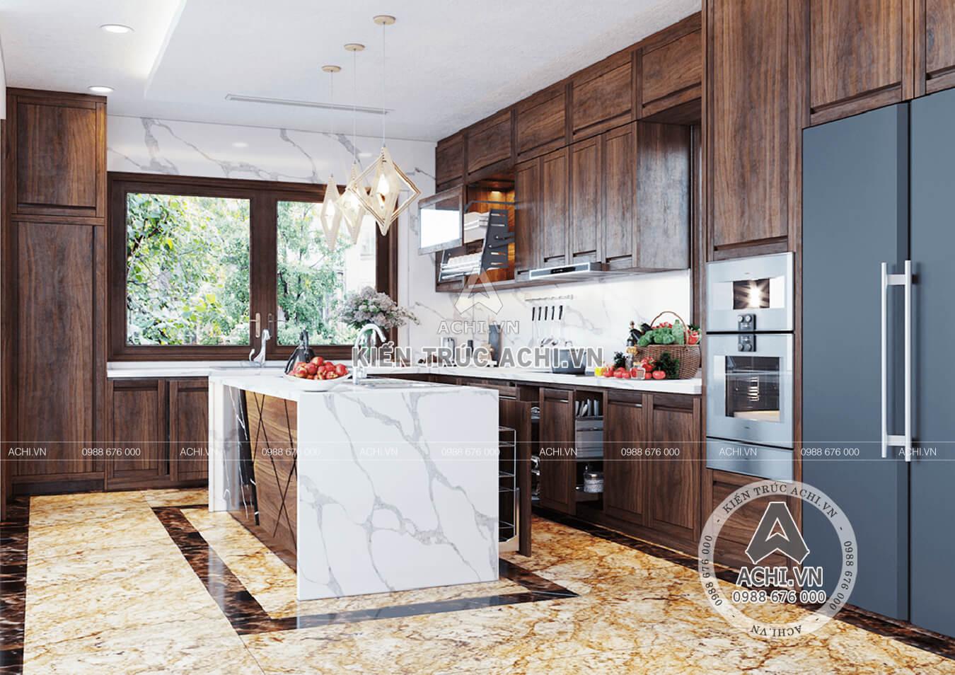 Bố trí nội thất phòng bếp tinh tế và tiện nghi