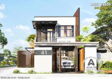 Thiết kế nhà 2 tầng hiện đại mặt tiền 8m – Mã số: ACHI 24209