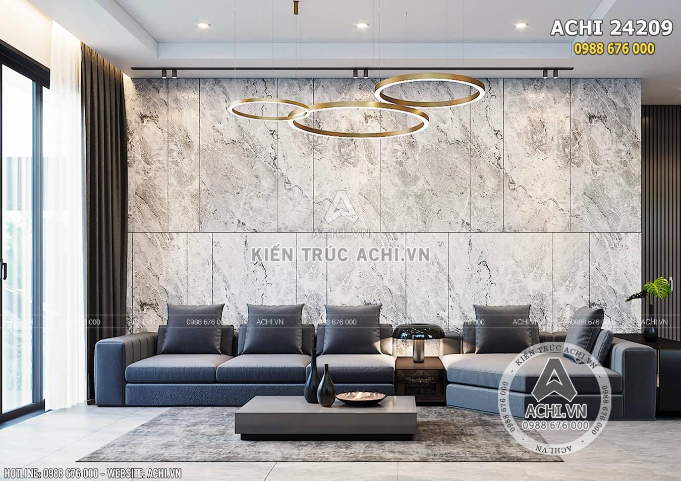 Không gian phòng khách với thiết kế hiện đại, mới lạ mang lại nguồn năng lượng mới cho cuộc sống