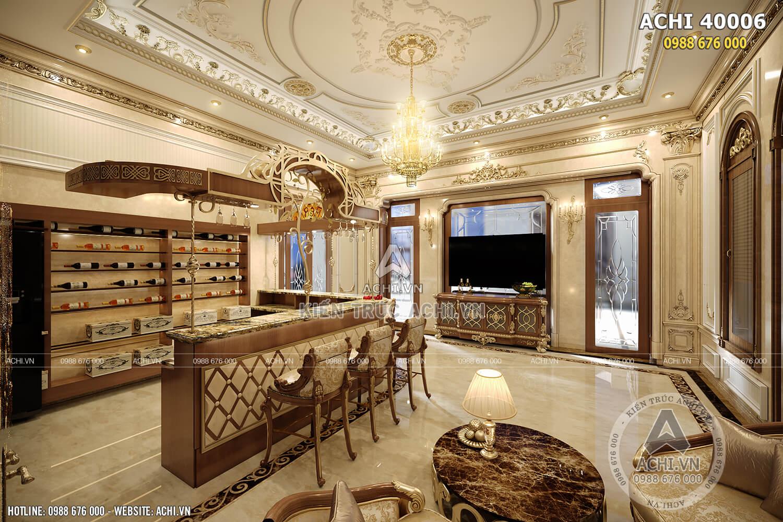 Thiết kế nội thất tân cổ điển đẹp cho quầy rượu
