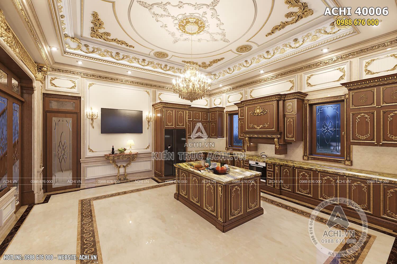 Không gian bếp ăn phong cách tân cổ điển