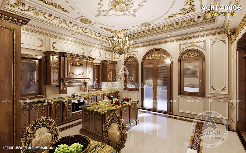 Thiết kế nội thất tân cổ điển đẹp cho khu vực bếp ăn