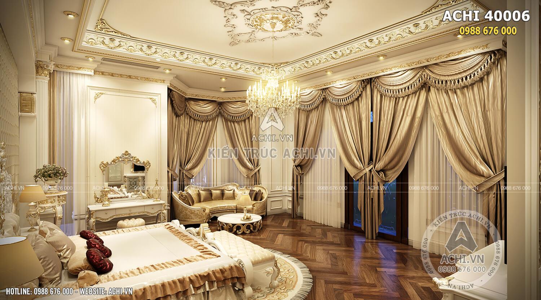 Nội thất phòng ngủ ấm áp và sang trọng
