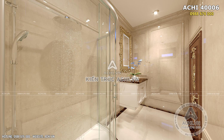 Không gian nội thất khu vực vệ sinh