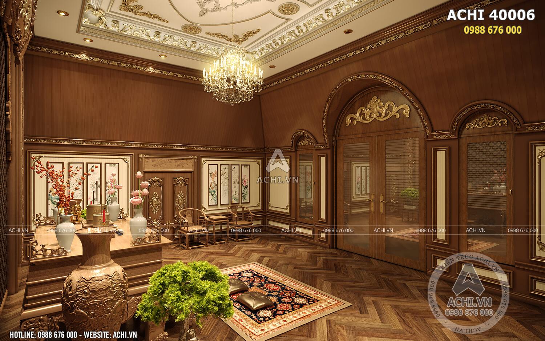 Thiết kế nội thất phòng thờ tân cổ điển
