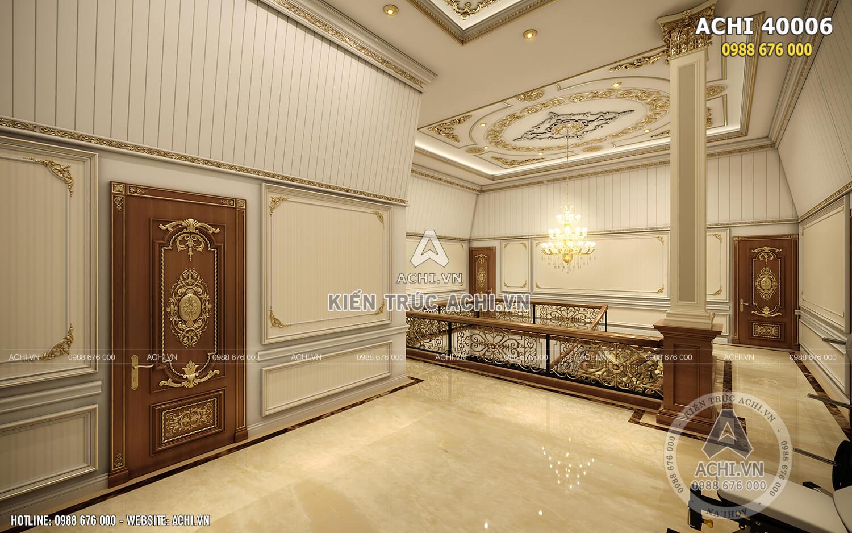 Một góc view nội thất độc đáo của ngôi biệt thự tân cổ điển