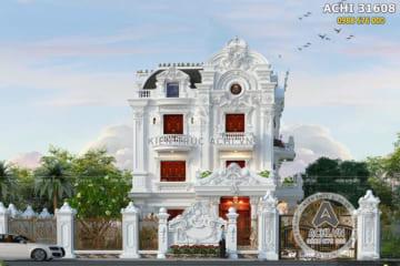 Mẫu biệt thự 3 tầng đẹp tân cổ điển tại Bắc Ninh – Mã số: ACHI 31608