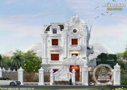 Không gian mặt tiền mẫu biệt thự 3 tầng đẹp tân cổ điển tại Bắc Ninh - Mã số: 31608