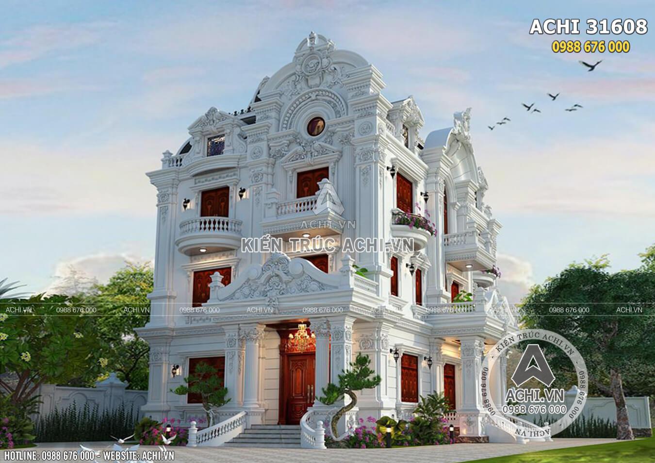 Vẻ đẹp kiêu kỳ, sang trọng và đẳng cấp của mẫu biệt thự 3 tầng tân cổ điển khiến ai cũng phải xuýt xoa