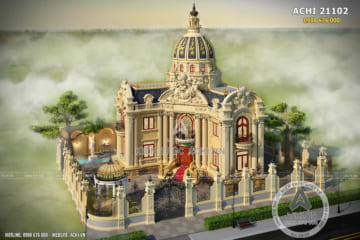 Mẫu biệt thự lâu đài 2 tầng đẳng cấp tại Bắc Ninh – ACHI 21102