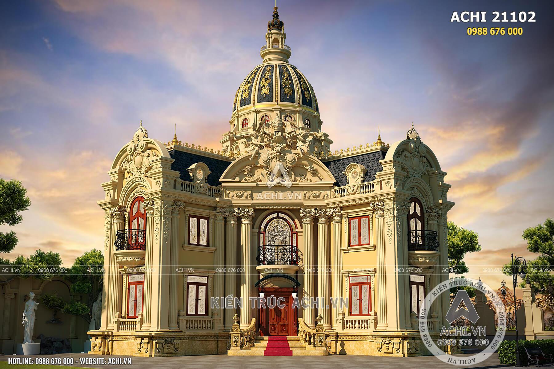 Mẫu thiết kế lâu đài 2 tầng đẳng cấp