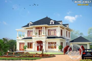 Mẫu biệt thự nhà vườn 2 tầng mái thái tại Hà Giang – ACHI 23017