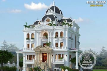 Mẫu biệt thự 3 tầng tân cổ điển đẹp tại Ninh Thuận – ACHI 43605
